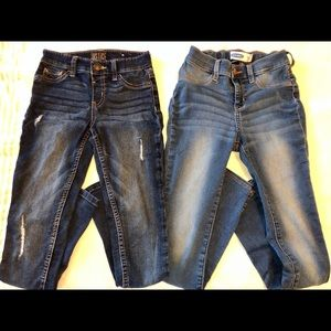 Pair of 2 Justice & old navy jeans jeggings 12